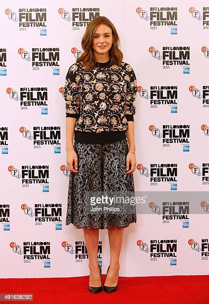 Actress Carey Mulligan attends the 'Suffragette' photocall during the BFI London Film Festival at The Lanesborough Hotel on October 7 2015 in London...