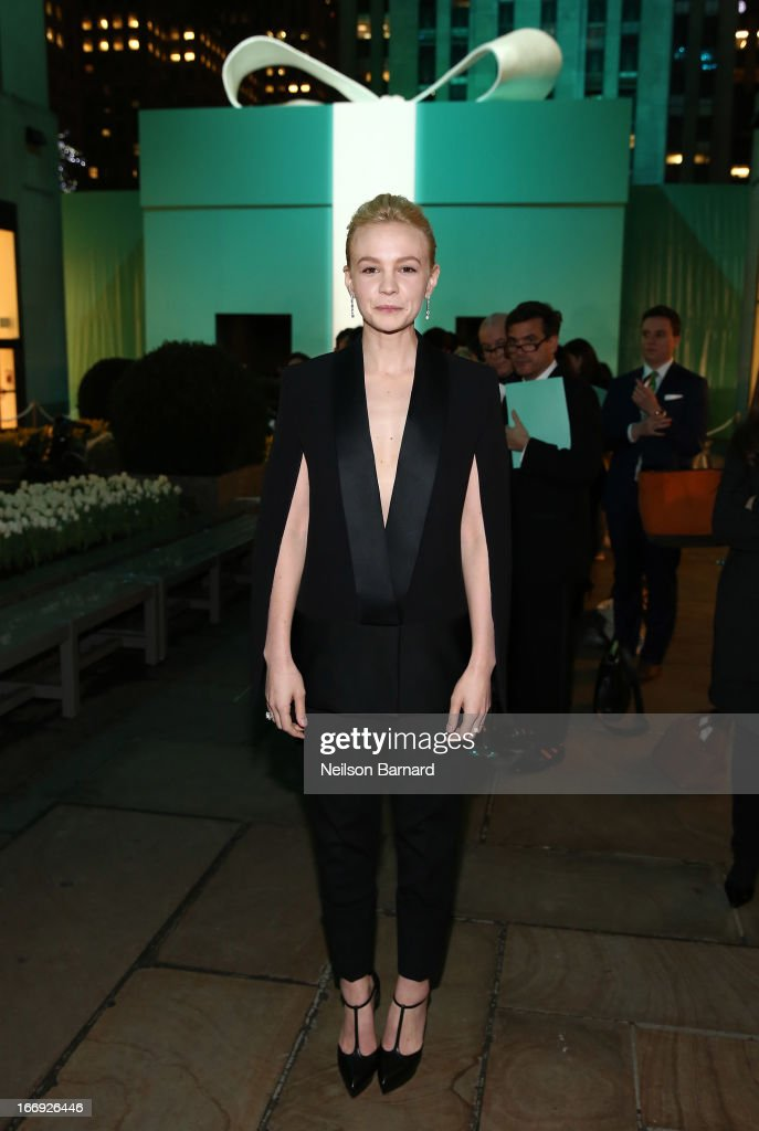 Actress <a gi-track='captionPersonalityLinkClicked' href=/galleries/search?phrase=Carey+Mulligan&family=editorial&specificpeople=2262681 ng-click='$event.stopPropagation()'>Carey Mulligan</a> is wearing Diamonds from the Tiffany & Co. 2013 Blue Book Collection as she attends the Tiffany & Co. Blue Book Ball at Rockefeller Center on April 18, 2013 in New York City.