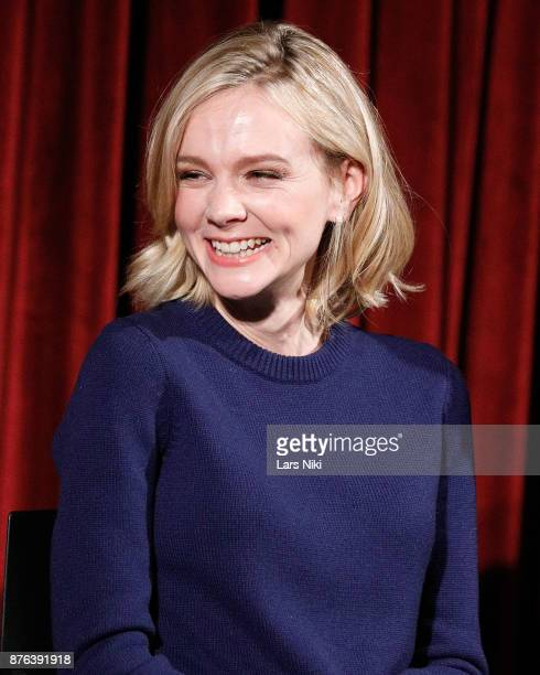 Actress Carey Mulligan on stage during The Academy of Motion Picture Arts Sciences Official Academy Screening of Mudbound at the MOMA Celeste Bartos...