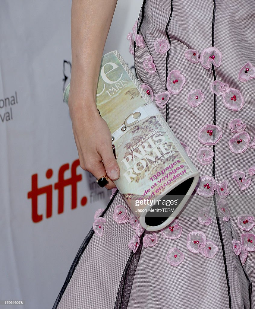 Actress Carice van Houten (purse detail) arrives at 'The Fifth Estate' premiere during the 2013 Toronto International Film Festival on September 5, 2013 in Toronto, Canada.