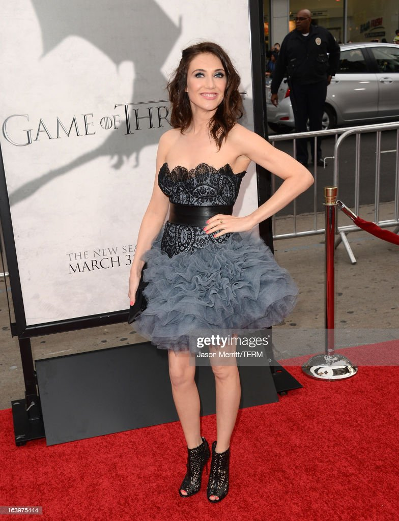 Actress Carice van Houten arrives at the premiere of HBO's 'Game Of Thrones' Season 3 at TCL Chinese Theatre on March 18, 2013 in Hollywood, California.