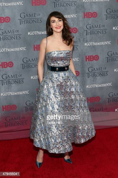 Actress Carice van Houten attends the 'Game Of Thrones' Season 4 premiere at Avery Fisher Hall Lincoln Center on March 18 2014 in New York City