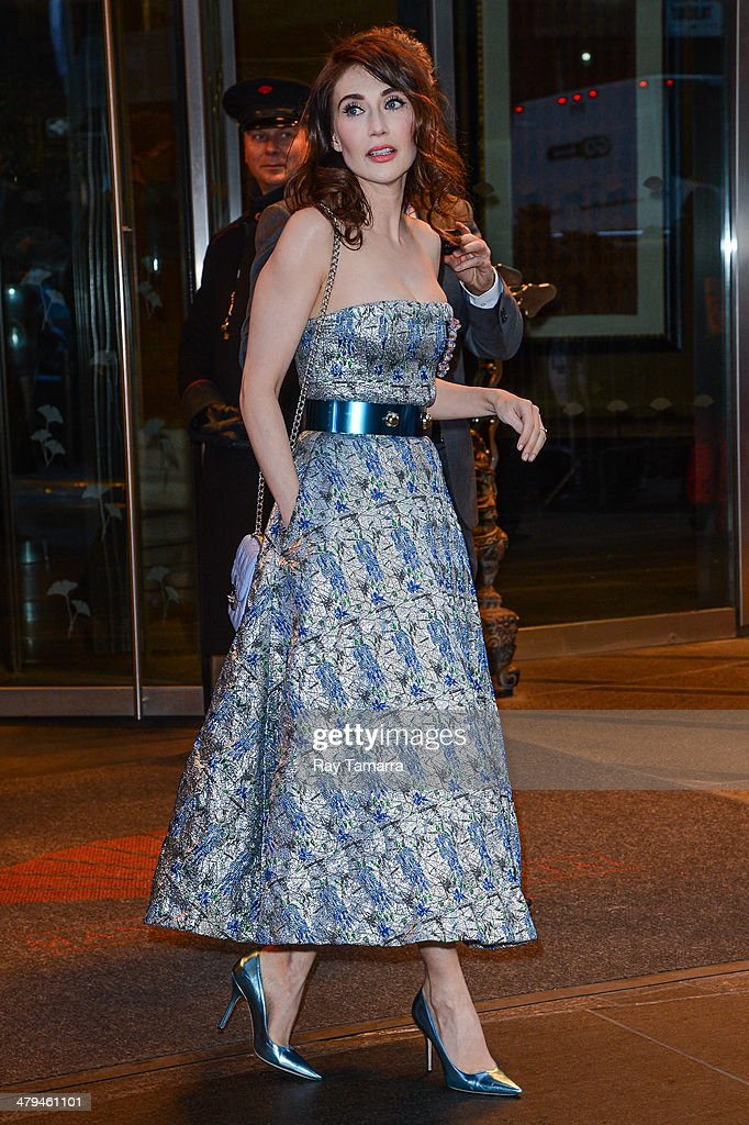 Actress Carice van Houten leaves a Midtown Manhattan hotel on March 18, 2014 in New York City.