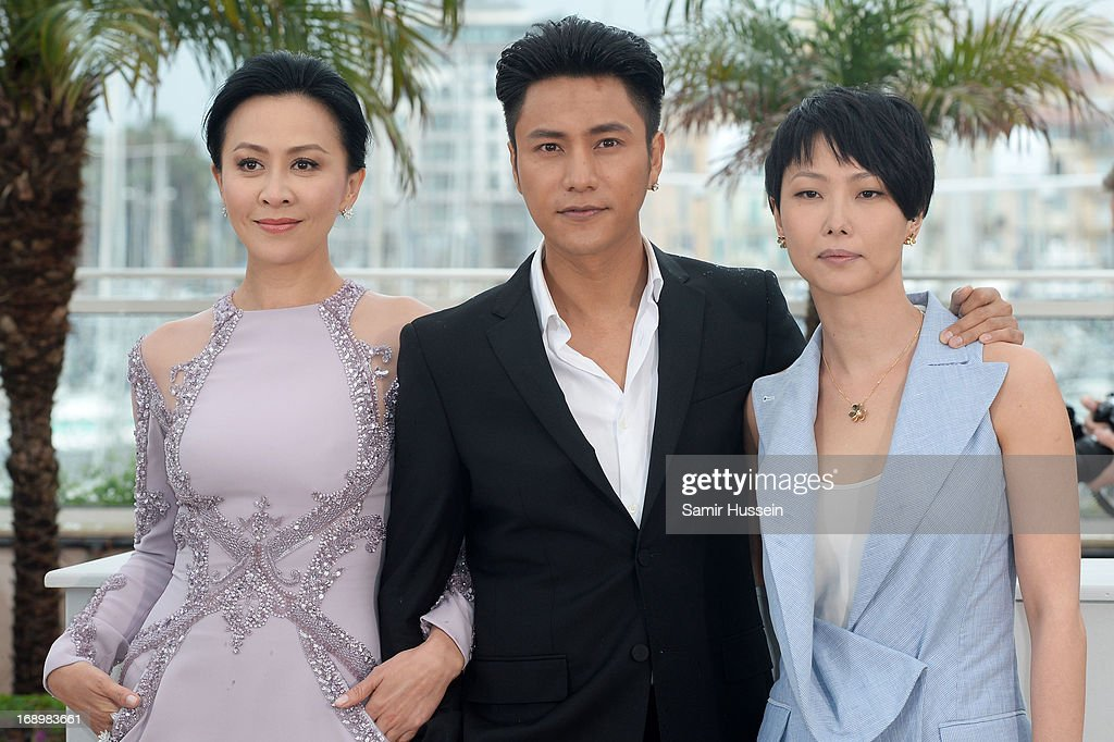 Actress <a gi-track='captionPersonalityLinkClicked' href=/galleries/search?phrase=Carina+Lau&family=editorial&specificpeople=663580 ng-click='$event.stopPropagation()'>Carina Lau</a>, actor Kun Chen and director Flora Lau attend 'Bends' Photocall during the 66th Annual Cannes Film Festival at Palais des Festivals on May 18, 2013 in Cannes, France.
