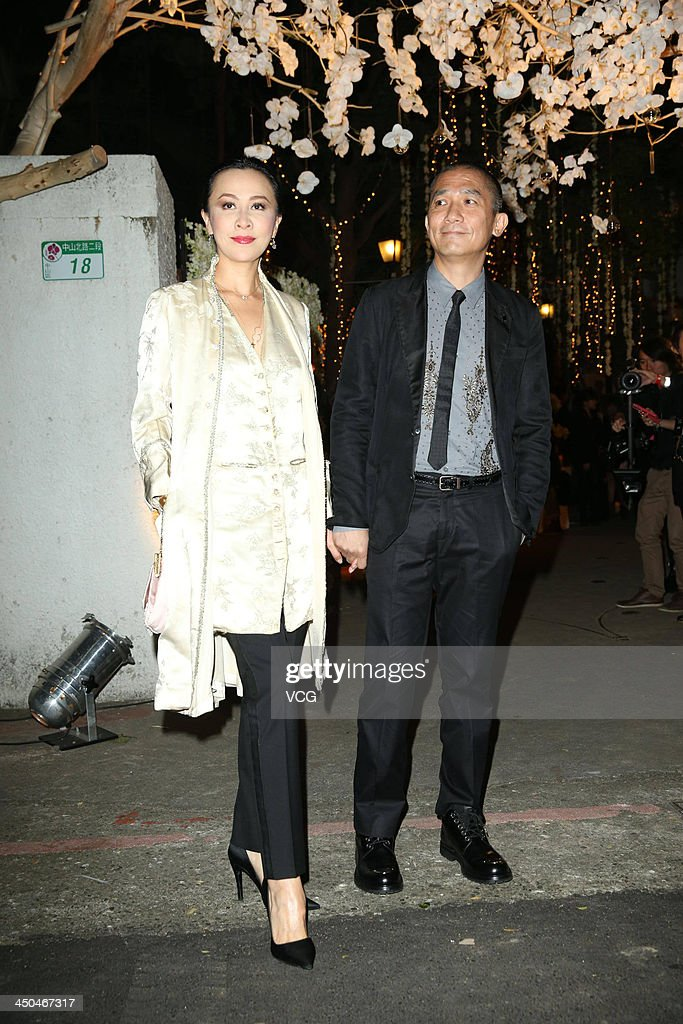Actress <a gi-track='captionPersonalityLinkClicked' href=/galleries/search?phrase=Carina+Lau&family=editorial&specificpeople=663580 ng-click='$event.stopPropagation()'>Carina Lau</a> and her husband Tony Leung Chiu-Wai attend Chang Chen's wedding ceremony on November 18, 2013 in Taipei, Taiwan.