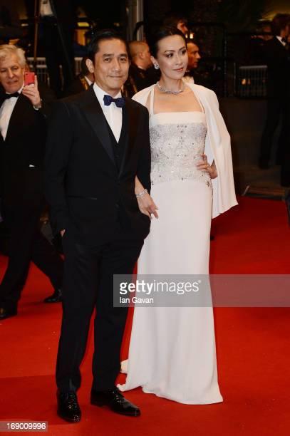 Actress Carina Lau and Tony Leung Chiu Wai attend the 'Soshite Chichi Ni Naru' Premiere during the 66th Annual Cannes Film Festival at the Palais des...