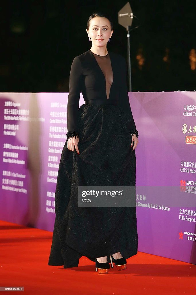 Actress Carina Lau arrives at the red carpet of the 55th Asia-Pacific Film Festival at Venetian Macao Resort Hotel on December 15, 2012 in Macau, Macau.