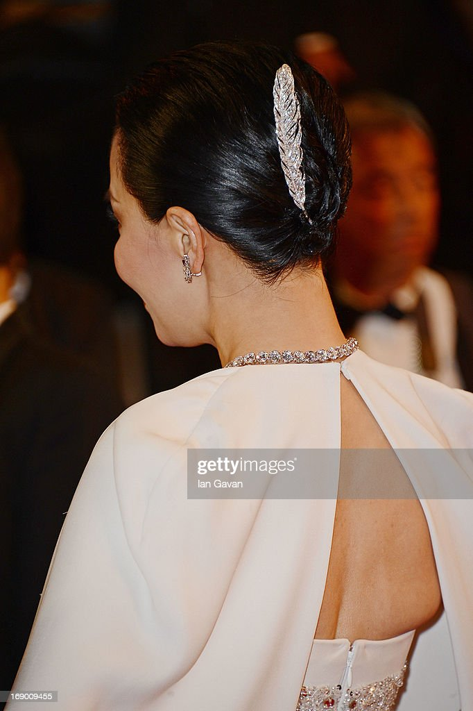 Actress Carina Lau (hair detail) attend the 'Bends' Premiere during The 66th Annual Cannes Film Festival at the Palais des festivals on May 18, 2013 in Cannes, France.