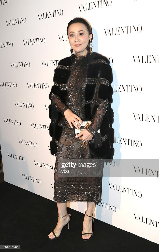 Actress Carina Lau attends a banquet of Valentino on November 4 2015 in Shanghai China