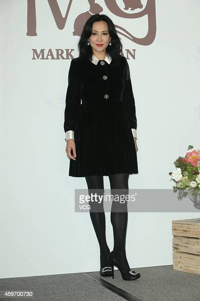 Actress Carina Lau attends actress Yuanyuan Gao and actor Mark Zhao's wedding ceremony at Le Meridien Taipei Hotel on November 28 2014 in Taipei...