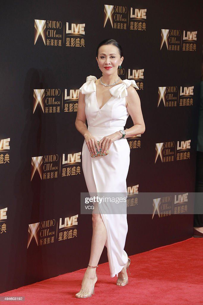 Actress <a gi-track='captionPersonalityLinkClicked' href=/galleries/search?phrase=Carina+Lau&family=editorial&specificpeople=663580 ng-click='$event.stopPropagation()'>Carina Lau</a> attends an opening ceremony of Studio City Macau on October 27, 2015 in Macau, China.