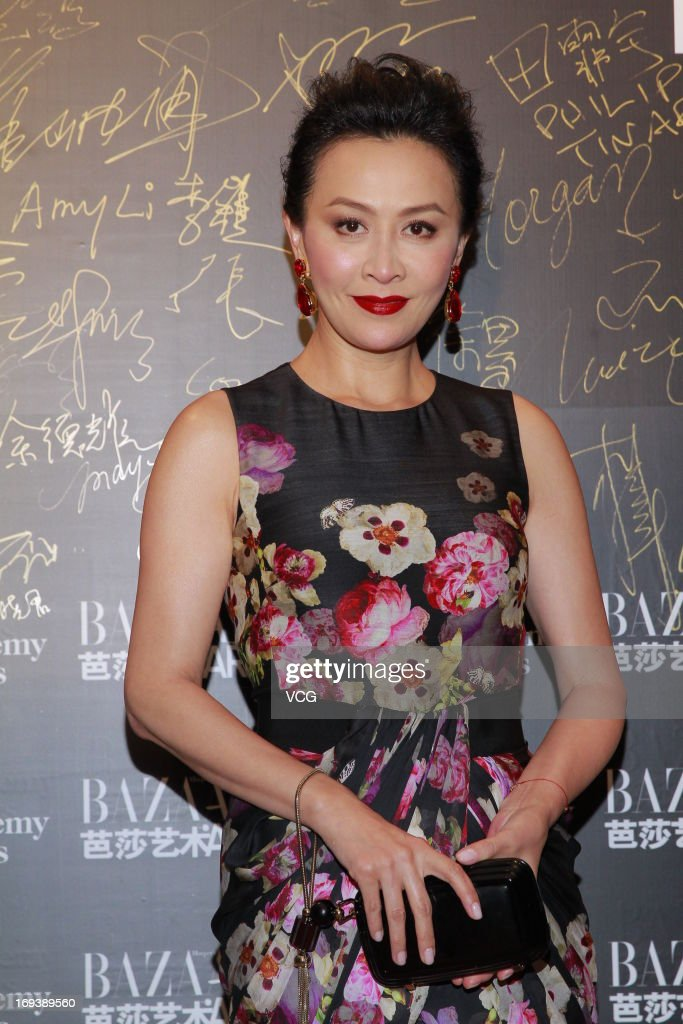 Actress Carina Lau attends 'Bazaar Art Night' on May 23, 2013 in Hong Kong, China.