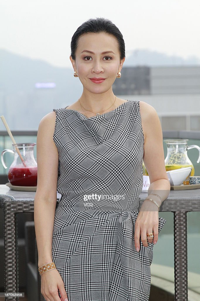 Actress Carina Lau attends 'Bends' press conference at The One on November 5, 2013 in Hong Kong, Hong Kong.