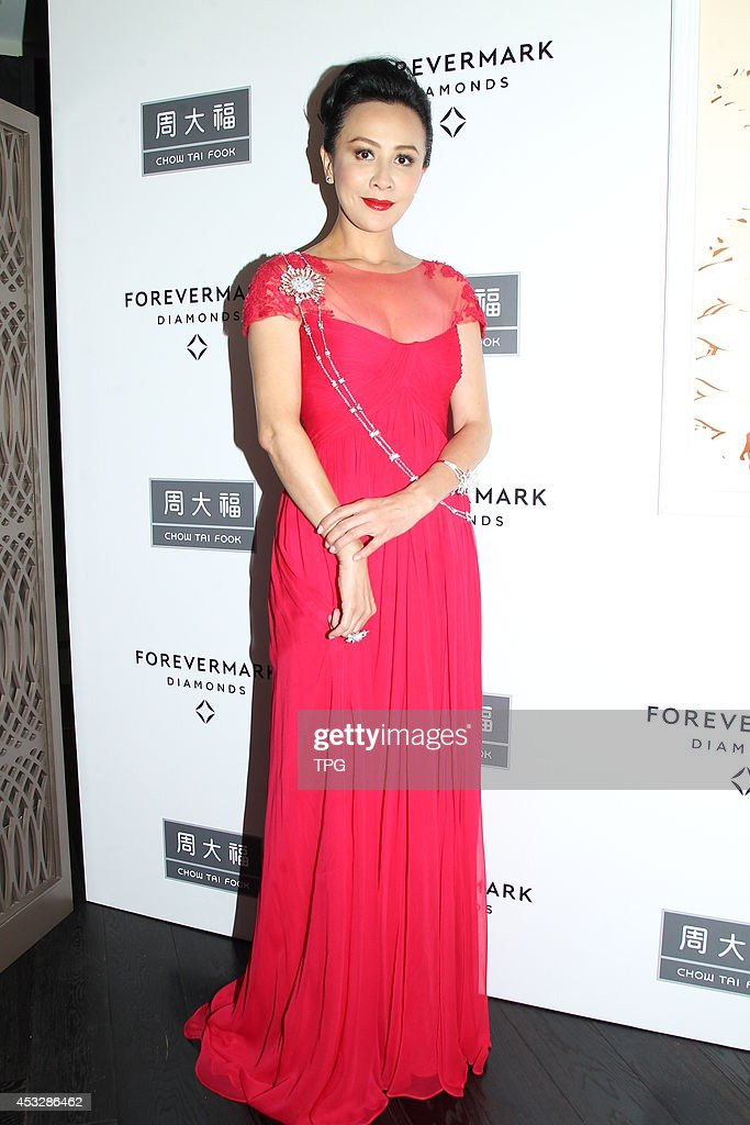 Actress Carina Lau attends Forevermark 85th anniversary at Galleria Plaza on Wednesday August 6,2014 in Hong Kong,China.
