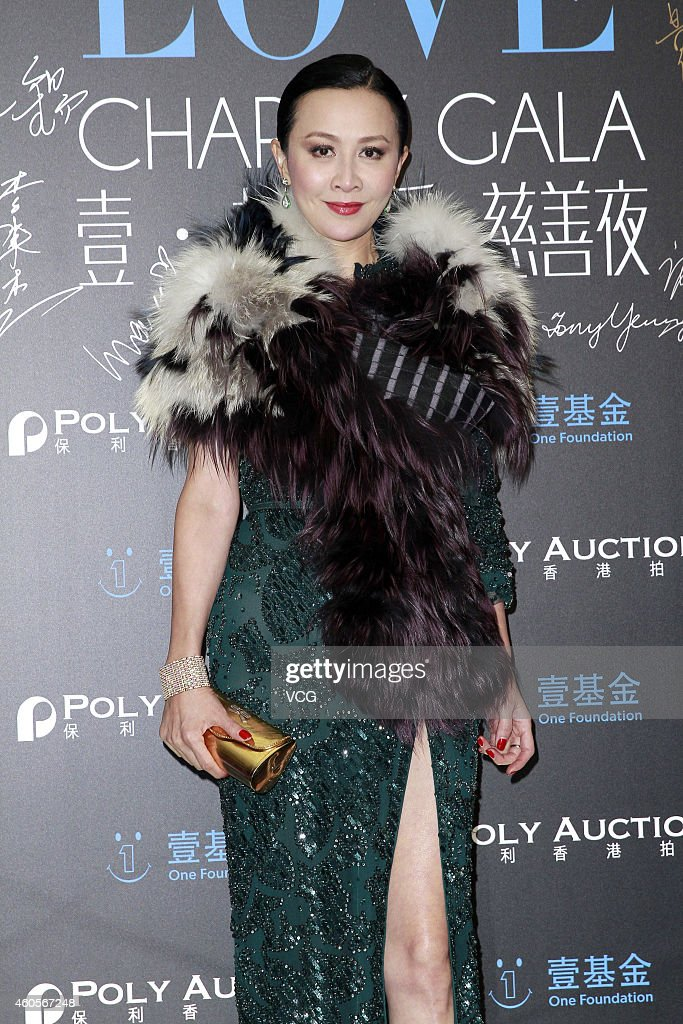 Actress Carina Lau attends 'One Foundation' charity auction at Grand Hyatt on December 17 2014 in Hong Kong China
