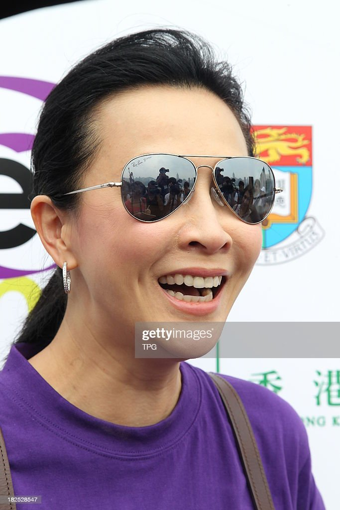 Actress Carina Lau attends public activity held by Hong Kong Anti-cancer Society on Sunday Sep 29,2013 in Hong Kong,China.