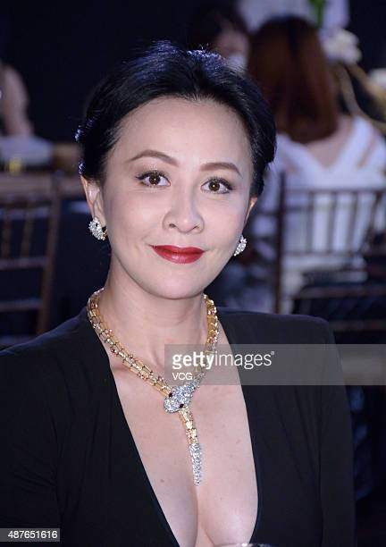Actress Carina Lau attends Sulwhasoo promotional event on September 10 2015 in Shanghai China