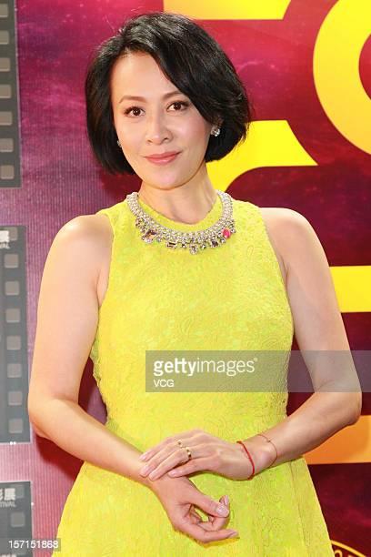 Actress Carina Lau attends the 55th Asia Pacific Film Festival press conference on November 28 2012 in Macau Macau