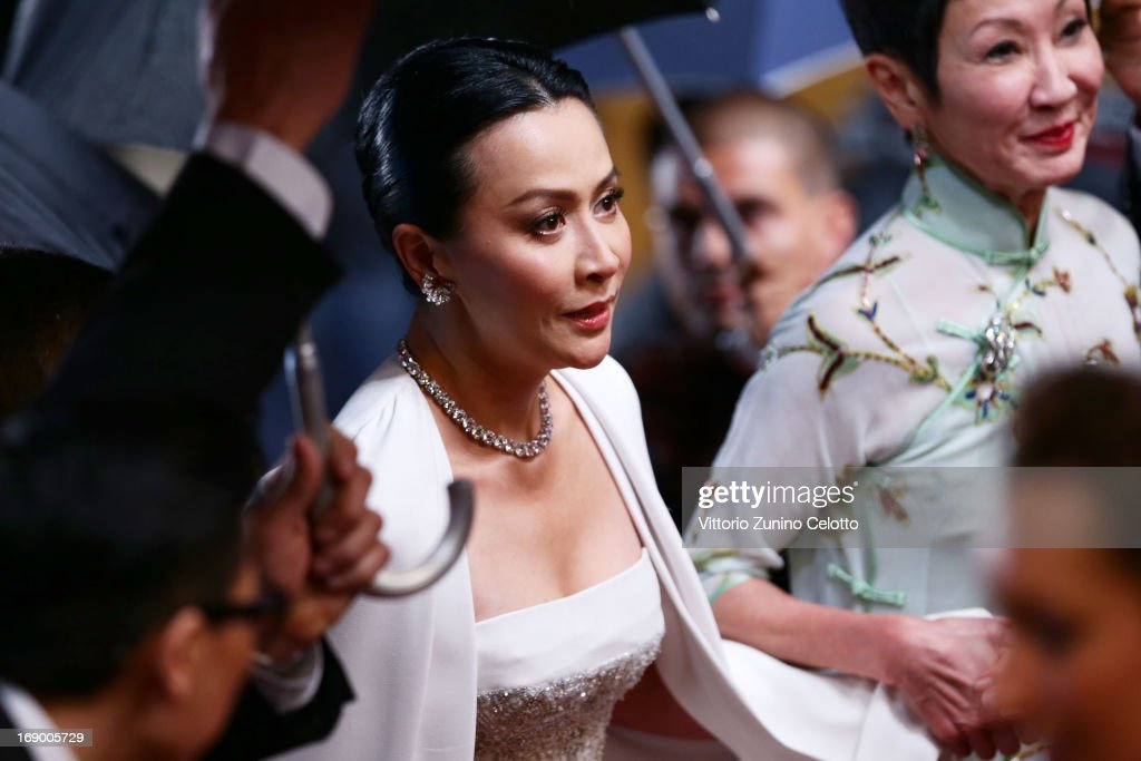 Actress Carina Lau attends the 'Bends' Premiere during The 66th Annual Cannes Film Festival at the Palais des festivals on May 18 2013 in Cannes...