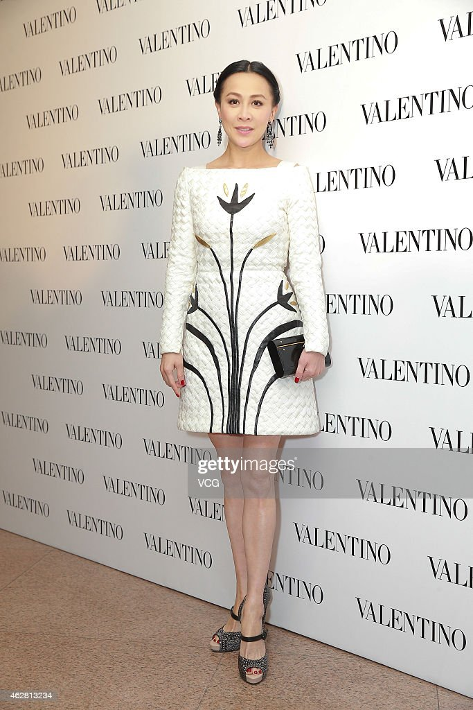 Actress Carina Lau attends the opening activity of Valentino flagship store on February 5 2015 in Hongkong China