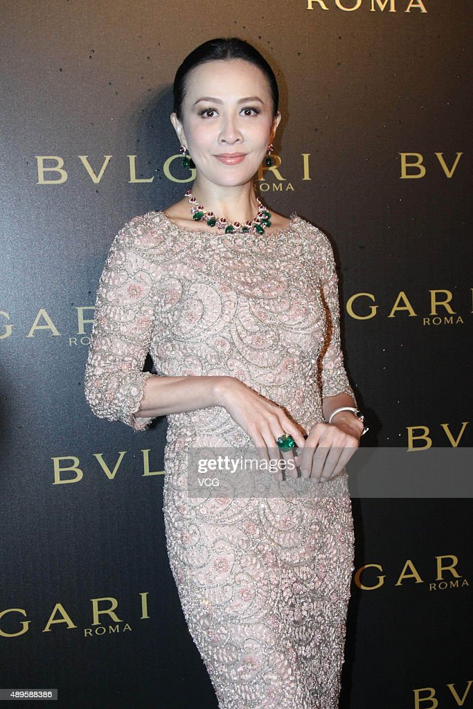Actress Carina Lau promotes Bvlgari on September 22 2015 in Beijing China