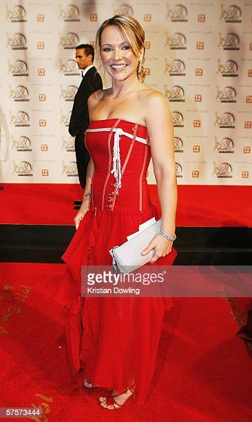Actress Carla Bonner arrives for the 2006 TV Week Logie Awards at the Crown Entertainment Complex on May 7 2006 in Melbourne Australia