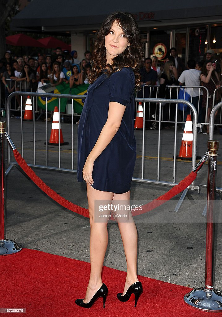 Actress <a gi-track='captionPersonalityLinkClicked' href=/galleries/search?phrase=Carla+Gallo&family=editorial&specificpeople=2276838 ng-click='$event.stopPropagation()'>Carla Gallo</a> attends the premiere of 'Neighbors' at Regency Village Theatre on April 28, 2014 in Westwood, California.
