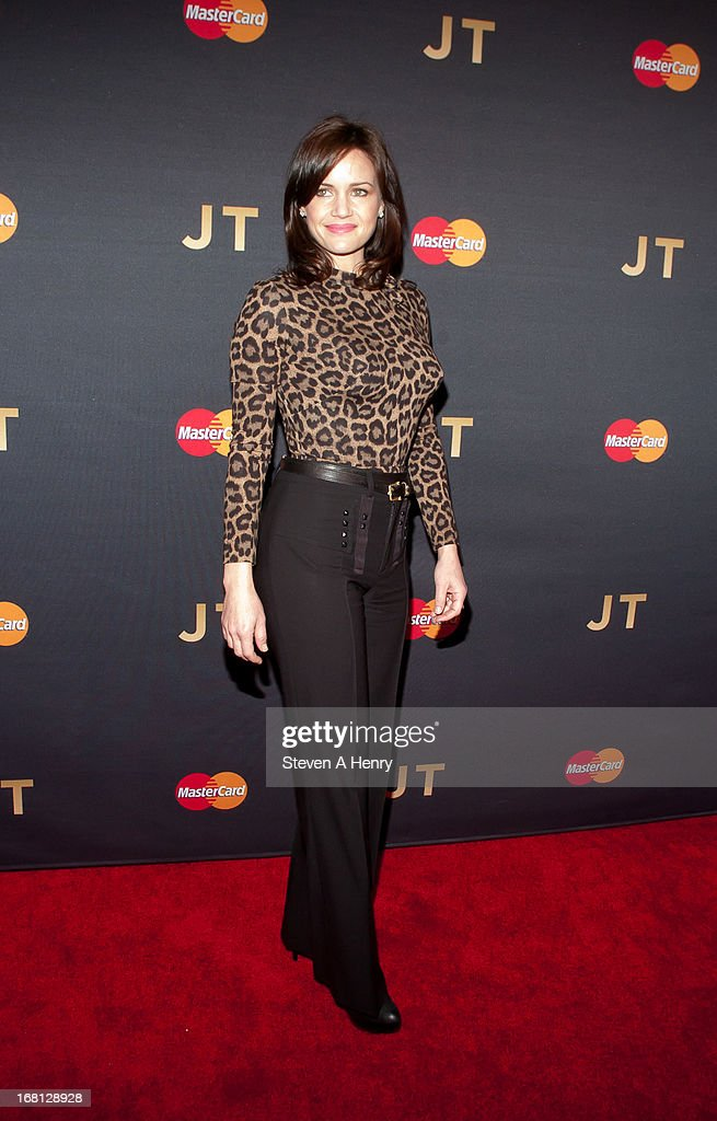 Actress <a gi-track='captionPersonalityLinkClicked' href=/galleries/search?phrase=Carla+Gugino&family=editorial&specificpeople=207137 ng-click='$event.stopPropagation()'>Carla Gugino</a> arrives at MasterCard Priceless Premieres Presents Justin Timberlake Roseland Ballroom on May 5, 2013 in New York City.