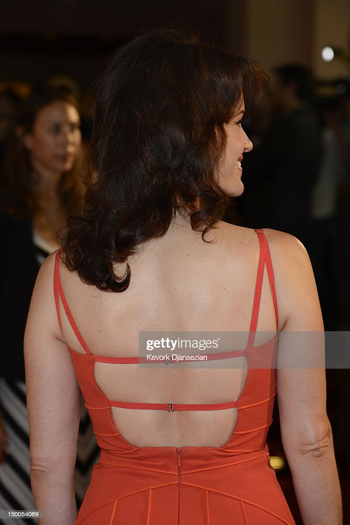 Actress Carla Gugino (hair detail) arrives at the Hollywood Foreign Press Association's 2012 Installation Luncheon held at the Beverly Hills Hotel on August 9, 2012 in Beverly Hills, California.