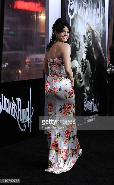 Actress Carla Gugino arrives at the premiere of Warner Bros Pictures' 'Sucker Punch' at Grauman's Chinese Theatre on March 23 2011 in Hollywood...