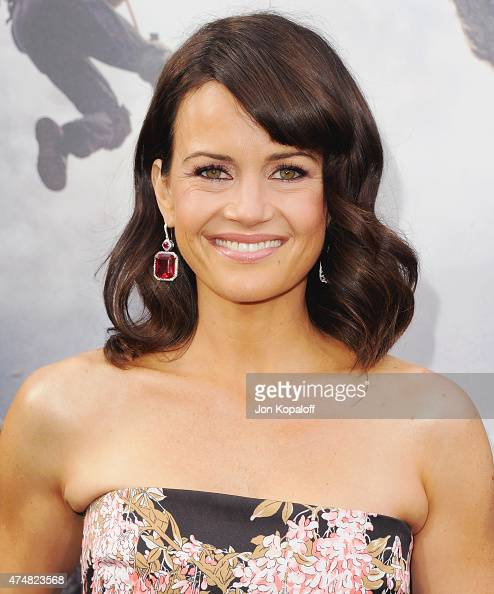 Actress Carla Gugino arrives at the Premiere Of Warner Bros Pictures' 'San Andreas' at TCL Chinese Theatre on May 26 2015 in Hollywood California