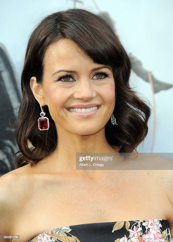 Actress Carla Gugino arrives for the Premiere Of Warner Bros. Pictures' 'San Andreas' held at TCL Chinese Theatre on May 26, 2015 in Hollywood, California.