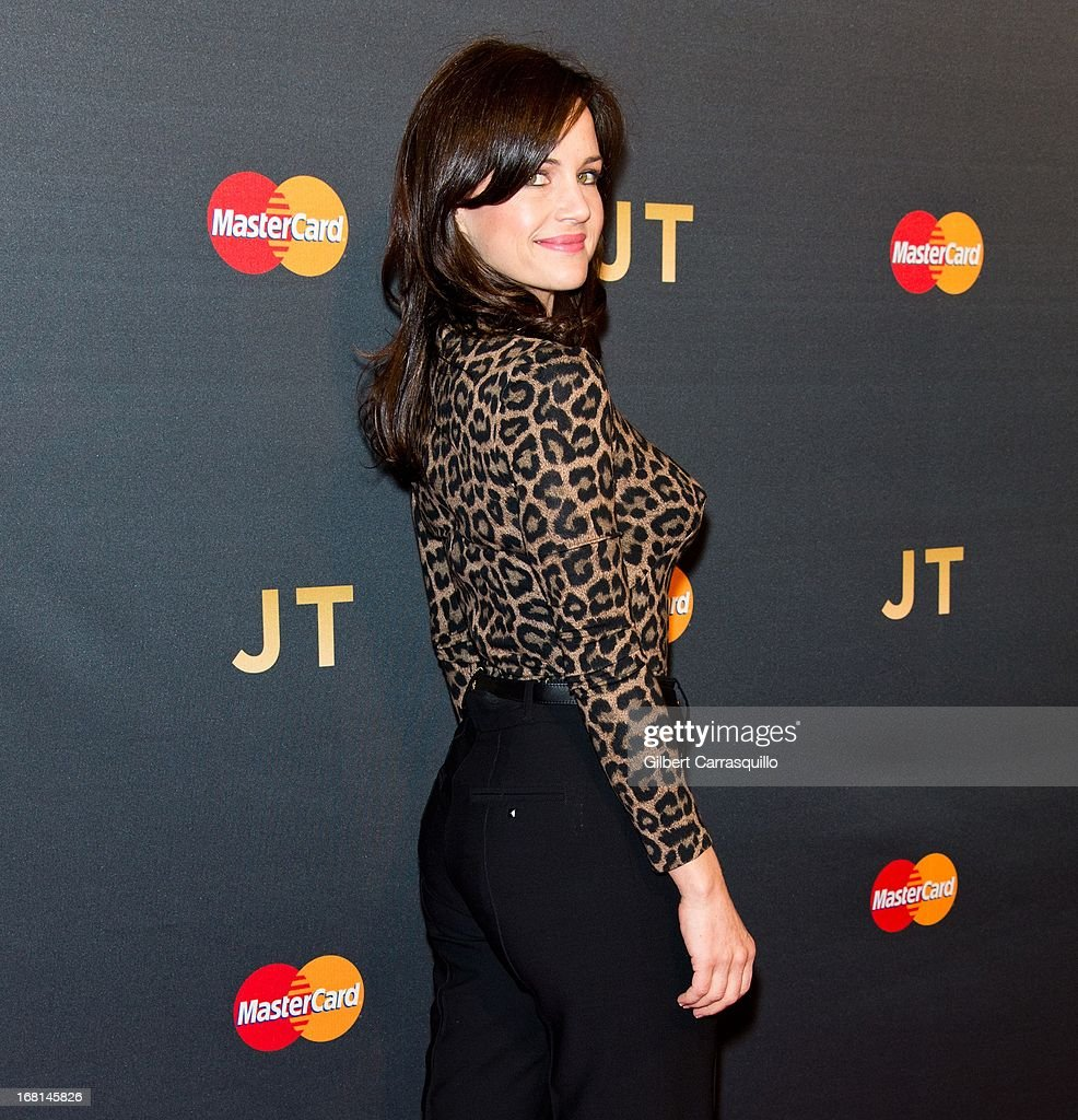Actress Carla Gugino attends MasterCard Priceless premieres presents Justin Timberlake at Roseland Ballroom on May 5, 2013 in New York City.