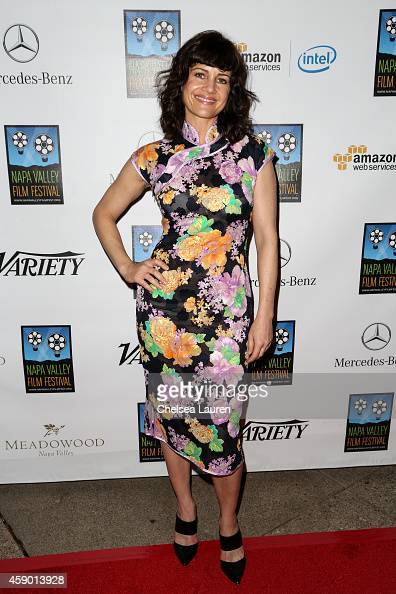 Actress Carla Gugino attends MercedesBenz arrivals at Napa Valley Film Festival celebrity tribute night on November 14 2014 in Napa California