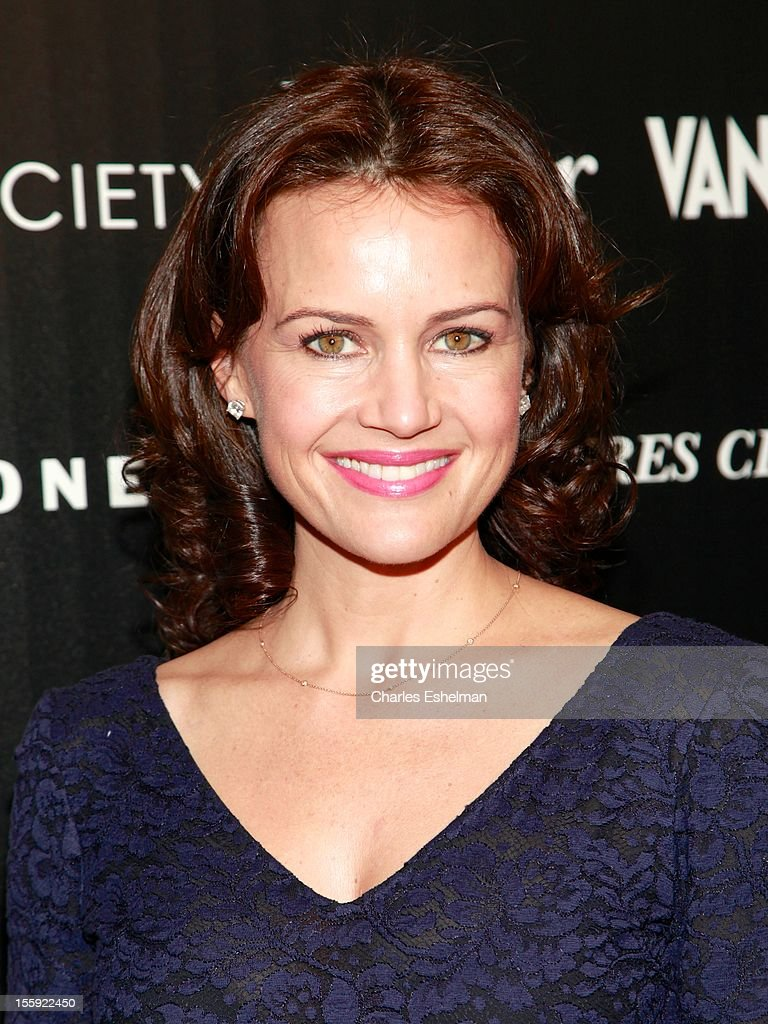Actress Carla Gugino attends The Cinema Society with Dior & Vanity Fair host a screening of 'Rust and Bone' at Landmark Sunshine Cinema on November 8, 2012 in New York City.