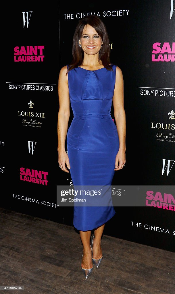 Actress Carla Gugino attends The Cinema Society with W Magazine and Louis XIII Cognac host a screening of Sony Pictures Classics' 'Saint Laurent' at...