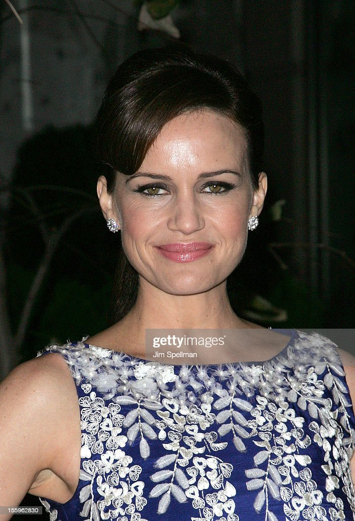 Actress Carla Gugino attends the Gato Negro Films & The Cinema Society screening of 'Hotel Noir' at Crosby Street Hotel on November 9, 2012 in New York City.