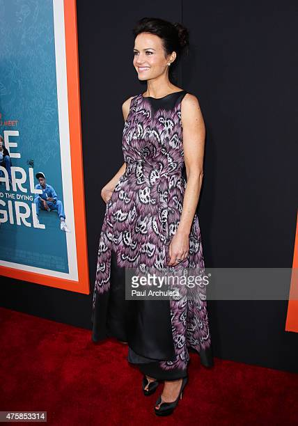 Actress Carla Gugino attends the 'Me And Earl And The Dying Girl' premiere at The Harmony Gold Theatre on June 3 2015 in Los Angeles California