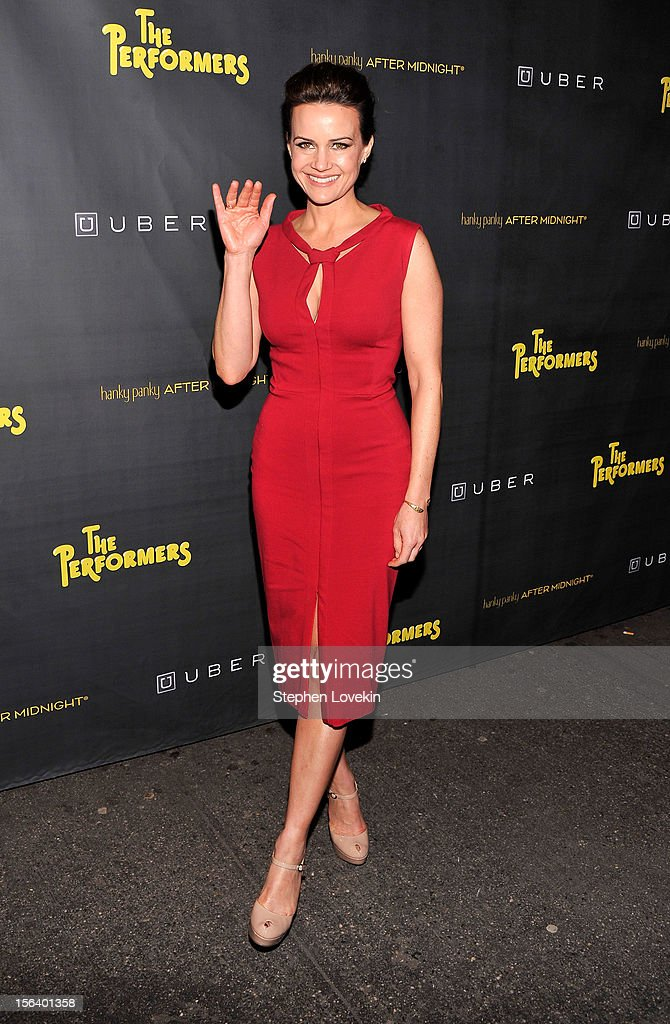 Actress Carla Gugino attends the opening night of 'The Performers' on Broadway at Longacre Theatre on November 14, 2012 in New York City.