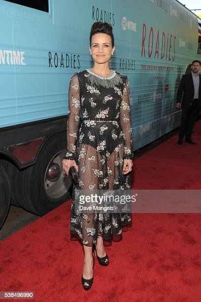 Actress Carla Gugino attends the premiere for Showtime's 'Roadies' at The Theatre at Ace Hotel on June 6 2016 in Los Angeles California