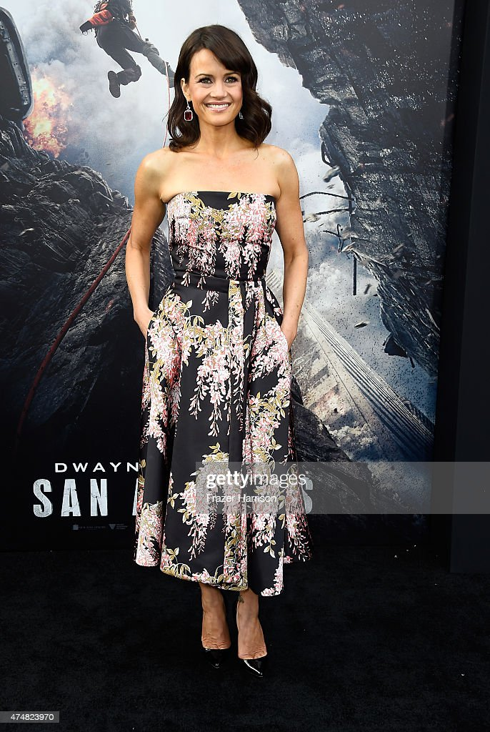 Actress Carla Gugino attends the Premiere of Warner Bros Pictures' 'San Andreas' at TCL Chinese Theatre on May 26 2015 in Hollywood California