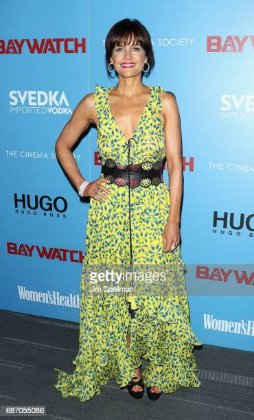 Actress Carla Gugino attends the screening of 'Baywatch' hosted by The Cinema Society at Landmark Sunshine Cinema on May 22 2017 in New York City