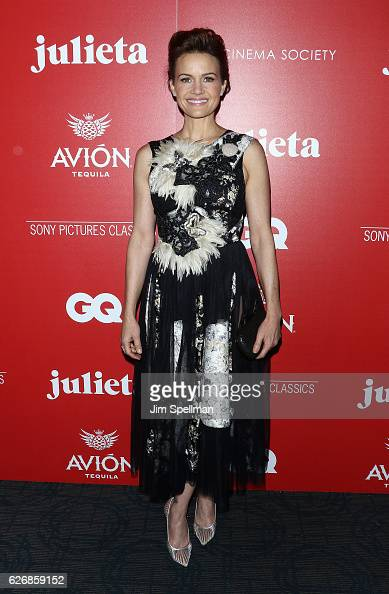 Actress Carla Gugino attends the screening of Sony Pictures Classics' 'Julieta' hosted by The Cinema Society with Avion and GQ at Landmark Sunshine...