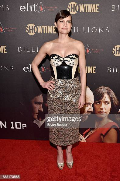 Actress Carla Gugino attends the Showtime and Elit Vodka hosted BILLIONS Season 2 premiere and party held at Cipriani's in New York City on February...