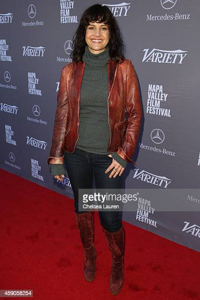 Actress Carla Gugino attends the Variety 10 producers to watch and indie impact presented by MercedesBenz at The Culinary Institute of America on...