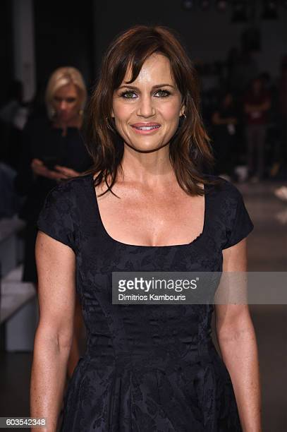 Actress Carla Gugino attends the Zac Posen fashion show during New York Fashion Week September 2016 at Spring Studios on September 12 2016 in New...