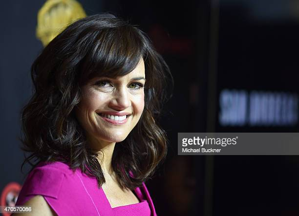 "Actress Carla Gugino attends Warner Bros Pictures Invites You to ""The Big Picture"" an Exclusive Presentation Highlighting the Summer of 2015 and..."