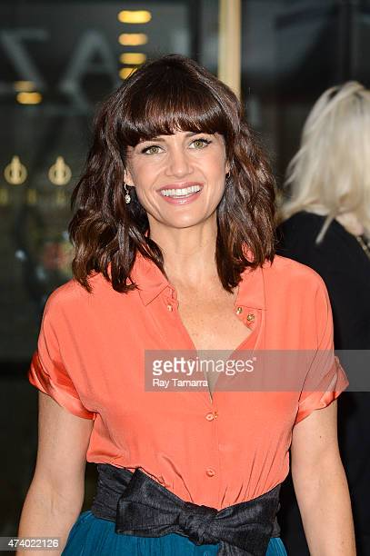Actress Carla Gugino leaves the 'Today Show' taping at the NBC Rockefeller Center Studios on May 19 2015 in New York City