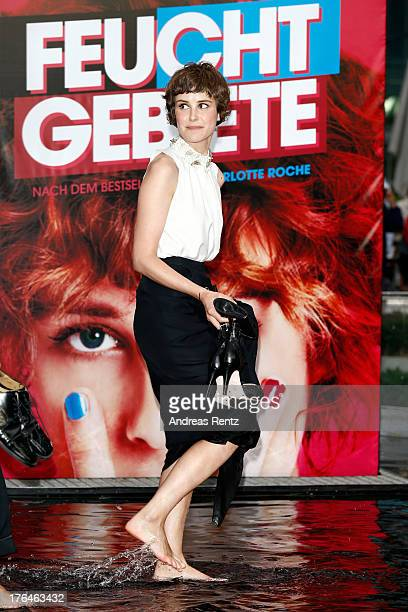 Actress Carla Juri attends 'Feuchtgebiete' Germany Premiere at Sony Centre on August 13 2013 in Berlin Germany