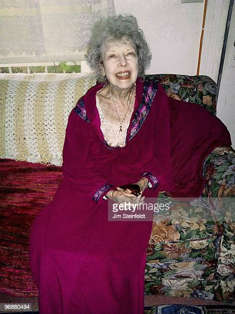 Actress Carla Laemmle at age 100 poses for a portrait in her home in Los Angeles California on February 8 2010